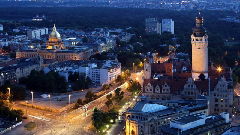 Bis zur Leipziger Innenstadt sind es etwa 2000 Meter.