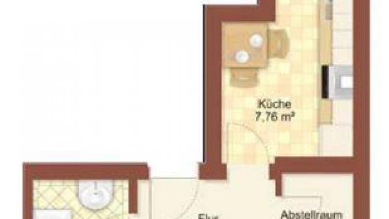 29_nachhause-immobilien_5c3882b8dbcb9eca243e3a31bf36d68ecaccd713 Single-Bude ... Schickes 1-Zimmer-Apartment mit Balkon zum Sofort-Bezug