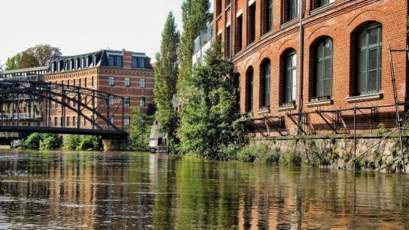 ... kann man Leipzig auch in der Gondel genießen.