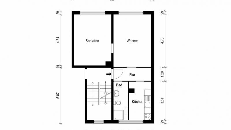 Grundriss - Wohnung 74