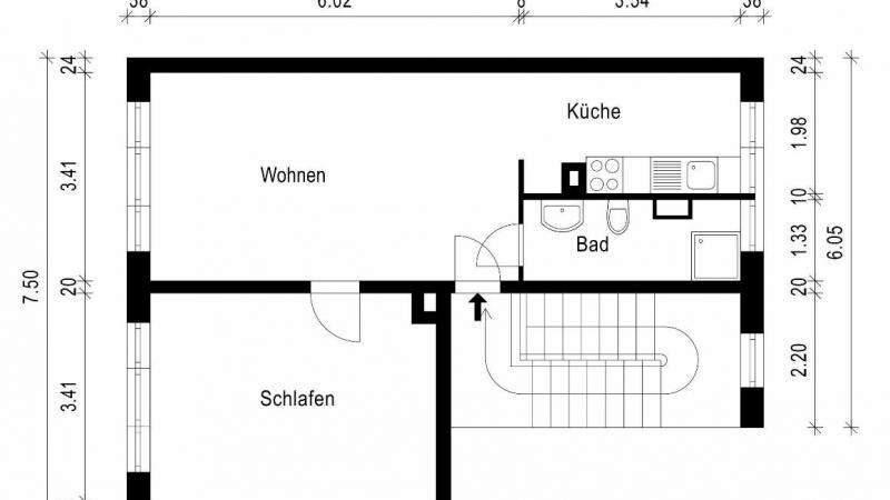 Grundriss - Wohnung 86